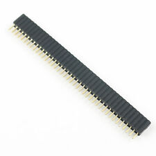 10Pcs 1.27mm Pitch Single Row 1x40 Pin 40 Pin Female Header Strip PH: 4.6mm