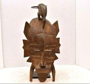 Senufo Kpelie Mask Cote D'Ivoire African Art Face mask 20th Century Wood