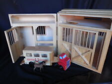 Handcrafted Wooden Barn With Trailer & Horse Preschool Toys Pretend & Play