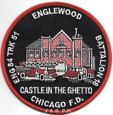 "Chicago  Engine-84 / Tr-51 ""Castle in Ghetto"", IL (4.5"" round) fire patch"