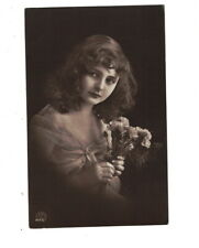 ME2807 FAMOUS MODEL OF THE 1920 ERA  LONG HAIR DRESSED IN LACE RPPC