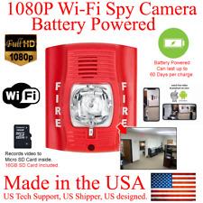HD 1080P 60 Day Battery Powered Fire Alarm Strobe WiFi Spy Camera Hidden Camera