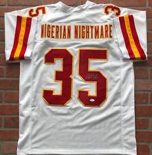 Christian Okoye autographed signed jersey NFL Kansas City Chiefs PSA COA
