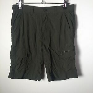 Mountain Designs mens hiking cargo shorts size XS khaki green tellus W28 inch
