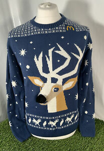 Vintage McDonald's Xmas Jumper Made In Great Britain Size M 90s