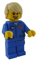 Lego Frau Astronautin blauer Anzug cty1067 Minifigur Figur Legofigur Astronaut