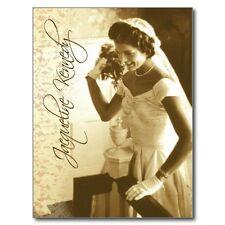 "*Postcard-""Jacqueline (Jackie) Kennedy""Smiles & Throwing Wedding Bouquet"" (B-243"