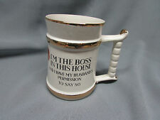 Vintage Prince William Ware, Marriage Stein / Mug Tankard Cup, I'M THE BOSS,