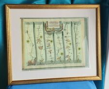 More details for framed strip map road to newhaven print john ogilby 1675 sussex east grinstead
