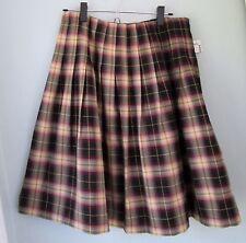 Pleated Plaids & Checks Regular Knee-Length Skirts for Women