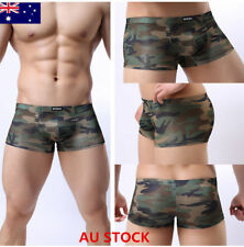 Hot Mens Camo Underwear Male Bulge Pouch Boxers Brief Trunks Shorts Underpants