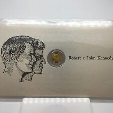 MONETA PIU PICCOLA DEL MONDO in oro 8 kt raffigurante Robert e John Kennedy