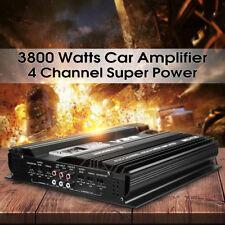 3800W RMS 4 Canaux 12V Voiture Audio Amplificateur Amplifier Alliage d'aluminium