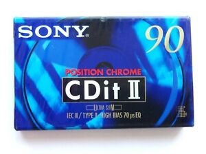 Sony CDit II 90 Chrome Blank Audio Cassette 90 Minute Tape New Sealed Stock