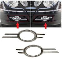 FOR MERCEDES BENZ MB E W211 06-09 FRONT BUMPER FOG LIGHT CHROME TRIM PAIR SET