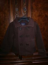 Class Club Boys Brown Fleece Double Breasted Coat Size 2/3