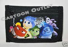 Disney Inside Out Wallet Coin Purse Bag Tri-Fold Wallet Licensed Nwt Girls Black