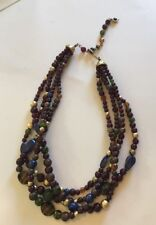 Vintage Fashion Costume Necklace Jewelry Beaded