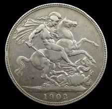 More details for edward vii 1902 silver crown - fine