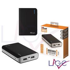 Batteria Portatile Trust per iPhone 5 6 7 Plus Power Bank 8000 mAh Nero