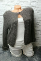 Italy Strickjacke Gr. 36 38 40 Cardigan taupe Jacke blogger One Button Kuschel