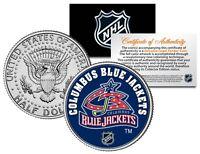 COLUMBUS BLUE JACKET NHL Hockey JFK Half Dollar U.S. Coin - OFFICIALLY LICENSED