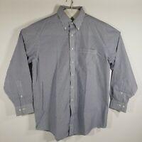 Brooks Brothers Mens Dress Shirt Button Down Long Sleeve 100% Cotton 16.5/34-35