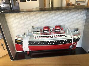 "New Schuco Classic ship tin steamer ""Queen I"" model ocean liner steamer tin toy"