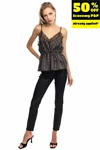 RRP €120 GUESS Jeans Size 28 Stretch Glittered Geometric Pattern Zip Fly