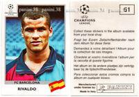 """RARE !! Sticker RIVALDO """"CHAMPIONS LEAGUE 1999/2000"""" Panini"""