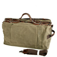 Men's Travel Duffle Bag Large Waxed Canvas Crossbody Tote Bags Holdall Handbags