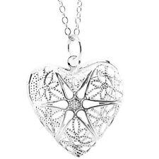 STILE CON INCAVATURA argento a forma di cuore Medaglione per foto