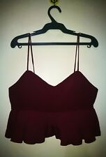 TOP CROPPED ZIPPERED BACK TAG SIZE M