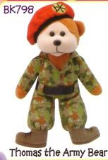 """Skansen Beanie Kids """"thomas The Army Bear"""" April 2010 Release With MINT Tag"""