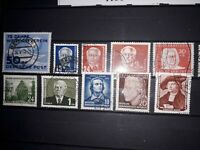 Germany East,  GDR/DDR, 'Early Years' 1949-1955' in used. Job Lot. Free UK P&P.