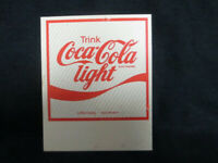 Coca-Cola Plastic Pin Trink Coca-Cola Light Vintage Brooch Style Pin Back