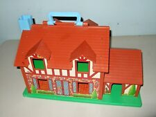 VTG Little People #952 Play Family Doll House Brown Tudor 80s Fisher Price