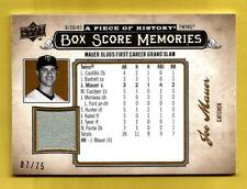 JOE MAUER 2008 UD A Piece Of History Box Score Memories Jersey Gold #d 07/75