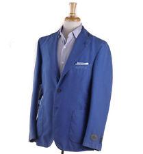NWT $1395 BELVEST Washed Blue Lightweight Seersucker Sport Coat 40 R (Eu 50)