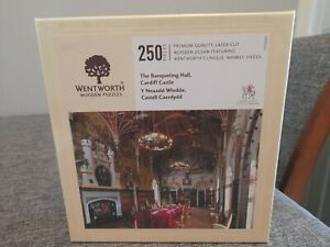 New Sealed 250 Piece Wentworth Wooden Puzzle - Cardiff Castle The Banqueting...