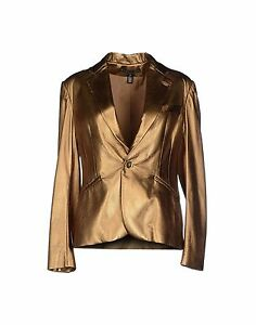 Ralph Lauren Black Label Gold Leather Blazer Sportcoat Jacket New $2995