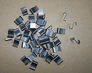 40  Glashalter Edelstahl /  Glasträger für Gewächshaus Schindelverglasung