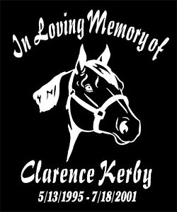 Quarter Horse In Loving Memory Of Decal Name Date car window vinyl sticker