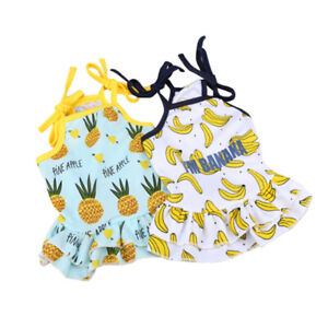 Small Dog Dress Skirt Summer Vest Puppy Outfit Clothes For Shih Tzu Poodle XS S