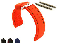 Mens Notched Corners Silicone Rubber Watch Strap Band Waterproof Resin ASTRO