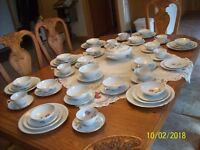 Thomas Rosenthal Vtg Fine Porcelain China Rose Pattern 64 Piece Grouping Germany