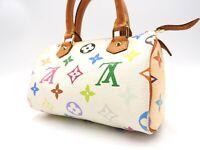 Authentic LOUIS VUITTON Mini Speedy Monogram Hand Bag Multicolor Bron B-4695