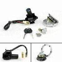 Ignition Switch Seat Gas Cap Cover Lock Key Set Fits Kawasaki EX Ninja 250R 300