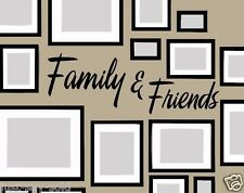 Family and Friends Horizontal Removable Vinyl Wall Decal - Color Black