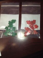 10 pc ~ SIEMON COMPANY SMBC-2-2 BRIDGING CLIP W/TEST RED OR GREEN.